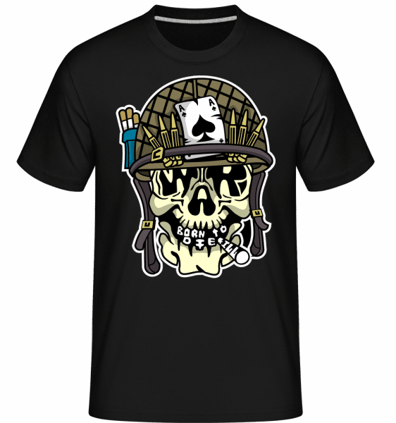 Skull War -  Shirtinator Men's T-Shirt - Black - Vorn