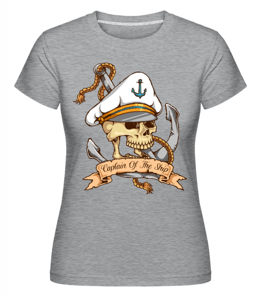 Sea Captain -  Shirtinator Women's T-Shirt - Heather grey - Vorn