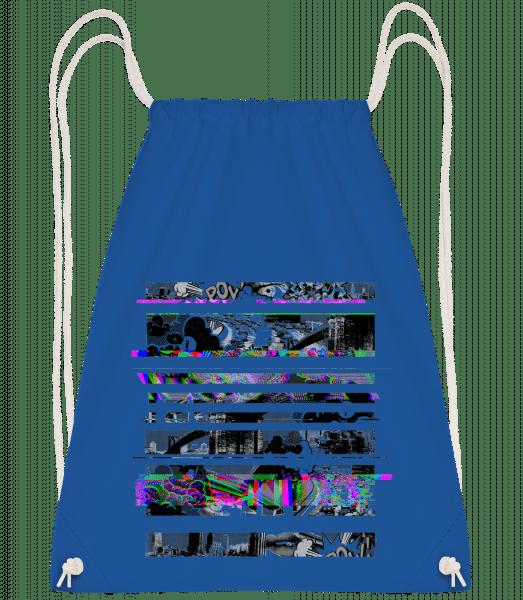 Broken Image - Drawstring Backpack - Royal blue - Vorn