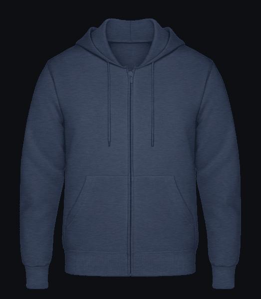 Men's Sweatjacket - Denim - Front