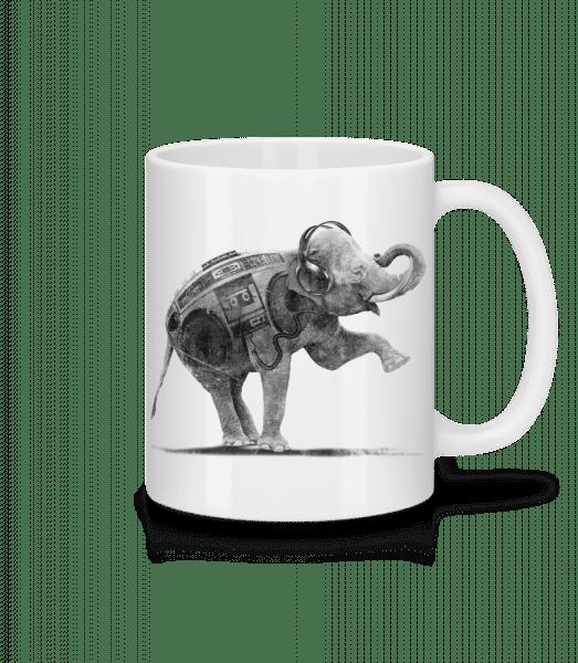 Ghettoblaster Elephant - Mug - White - Vorn