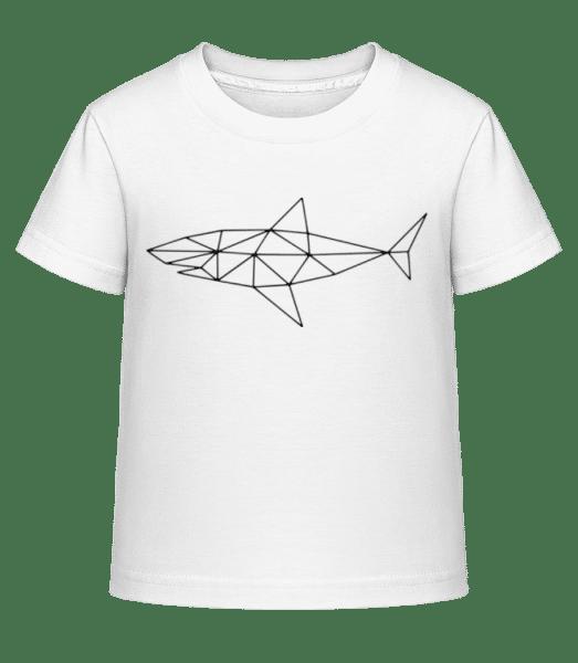 polygón žralok - Detské Shirtinator tričko - Biela - Predné