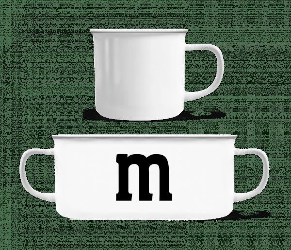 M - Enamel-cup - White - Vorn