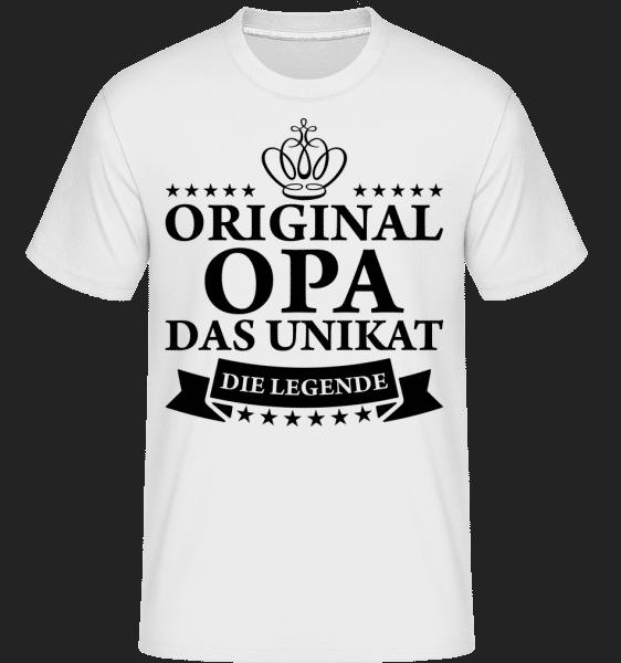 Opa Das Unikat Die Legende - Shirtinator Männer T-Shirt - Weiß - Vorn