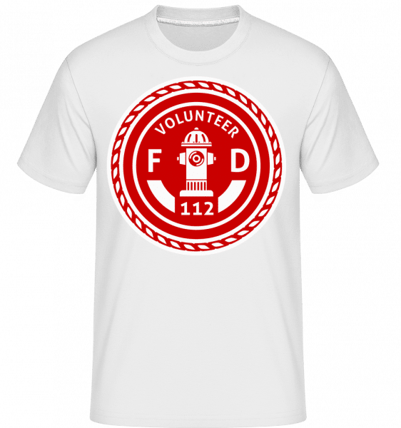 Volunteer FD -  Shirtinator Men's T-Shirt - White - Vorn