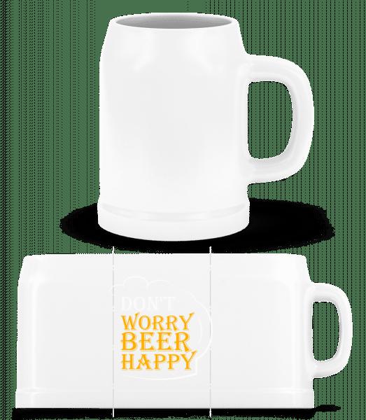 Beer Happy - Beer Mug - White - Vorn