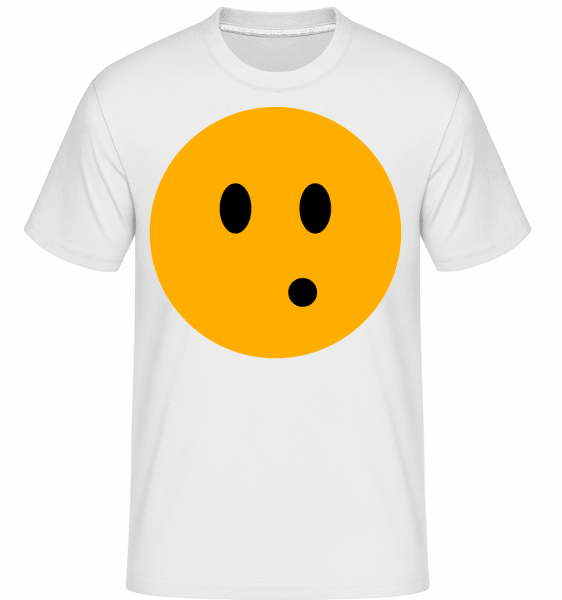 Surprised Smiley -  T-Shirt Shirtinator homme - Blanc - Devant