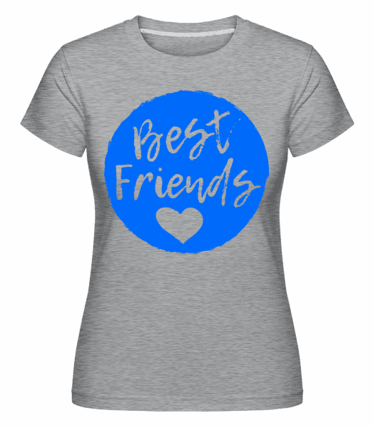 Best Friends Love - Shirtinator Frauen T-Shirt - Grau meliert - Vorn