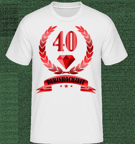 40 Jahre Rubinhochzeit - Shirtinator Männer T-Shirt - Weiß - Vorn