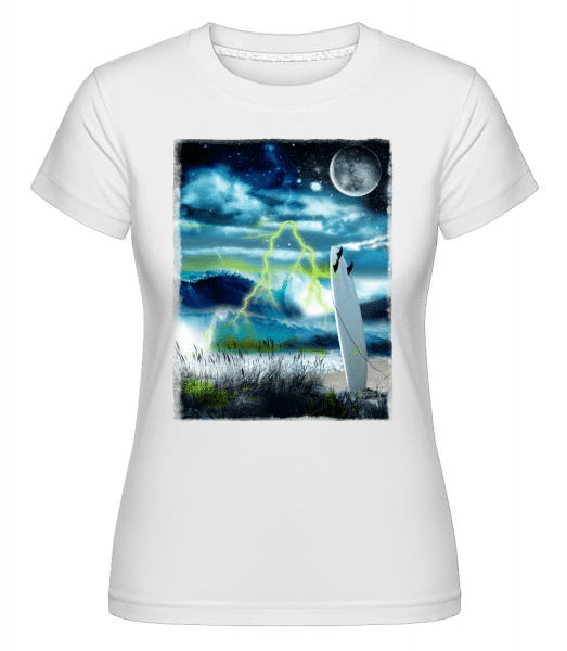 Beach In Space -  Shirtinator Women's T-Shirt - White - Vorn