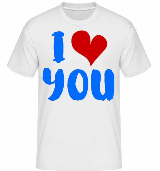 I Love You - Shirtinator Männer T-Shirt - Weiß - Vorn