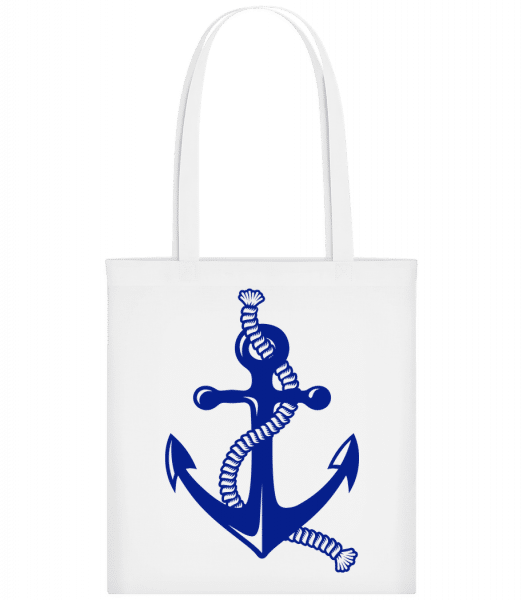 Anchor With Rope - Carrier Bag - White - Vorn