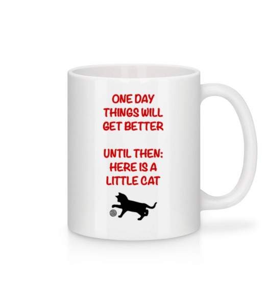 Things Will Get Better - Cat - Mug - White - Front