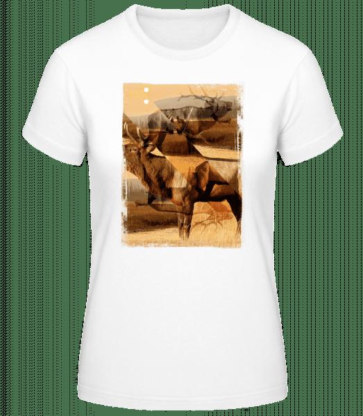 Cerf Créatif - Basic T-Shirt - White - Vorn