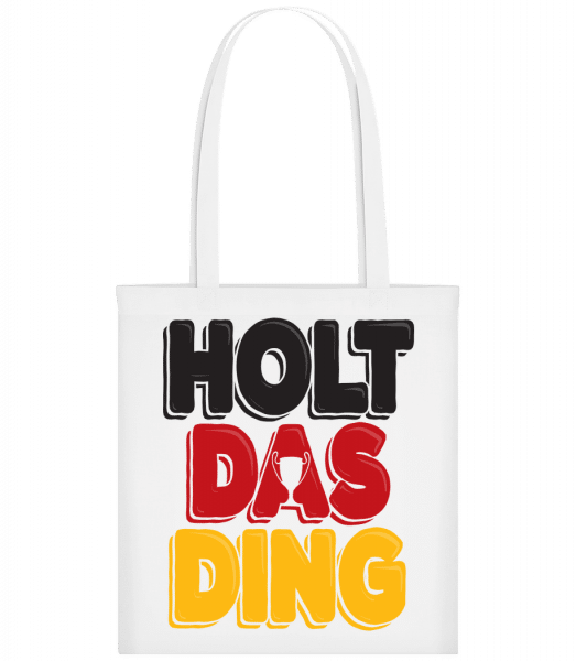 football_3_DE - Carrier Bag - White - Vorn