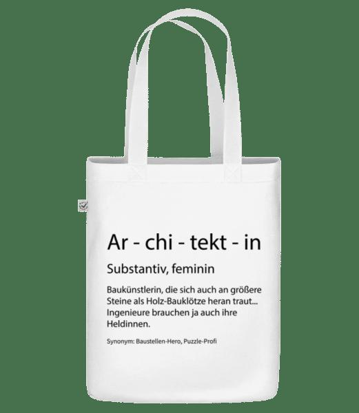 Architektin Quatsch Duden - Bio Tasche - Weiß - Vorn