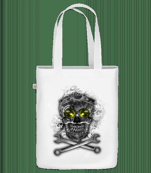 "Machine Skull - Organic ""Earth Positive"" tote bag - White - Vorn"