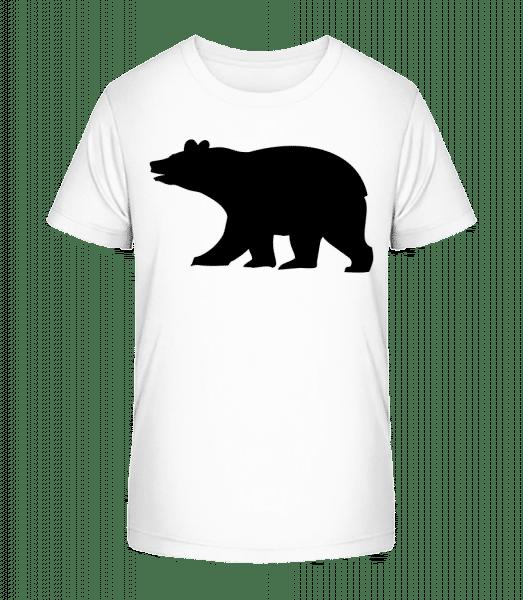 Bear Shadow - Kid's Premium Bio T-Shirt - White - Vorn
