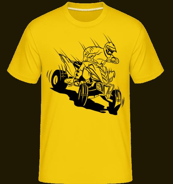 Quad Driver Comic -  Shirtinator Men's T-Shirt - Golden yellow - Vorn