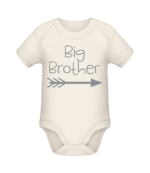 Big Brother - Baby Bio Strampler - Creme - Vorn