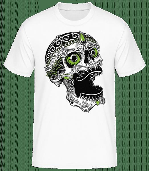 Cool Skull - Men's Basic T-Shirt - White - Front