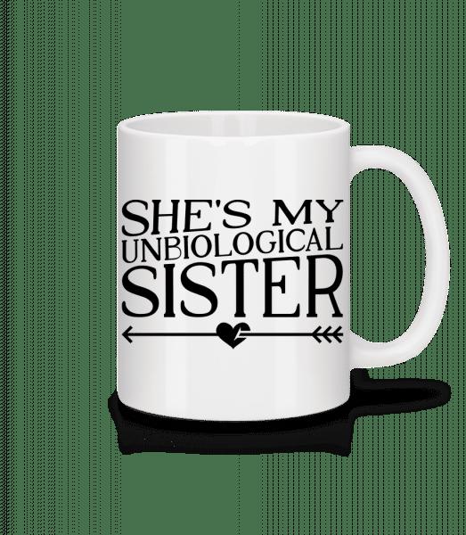 Unbiological Sister - Tasse - Weiß - Vorn