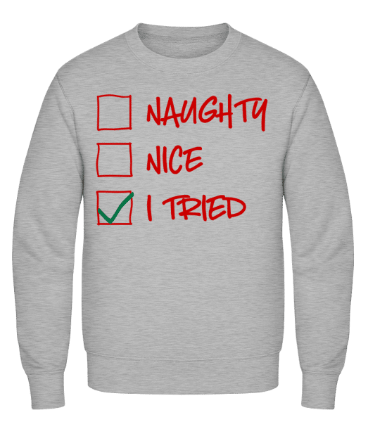 Naughty Nice I Tried - Men's Sweatshirt - Heather grey - Vorn