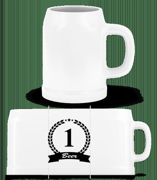 Number One Beer - Beer Mug - White - Vorn