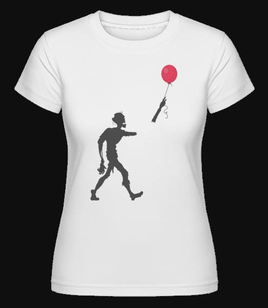 Zombie Balloon -  Shirtinator Women's T-Shirt - White - Vorn