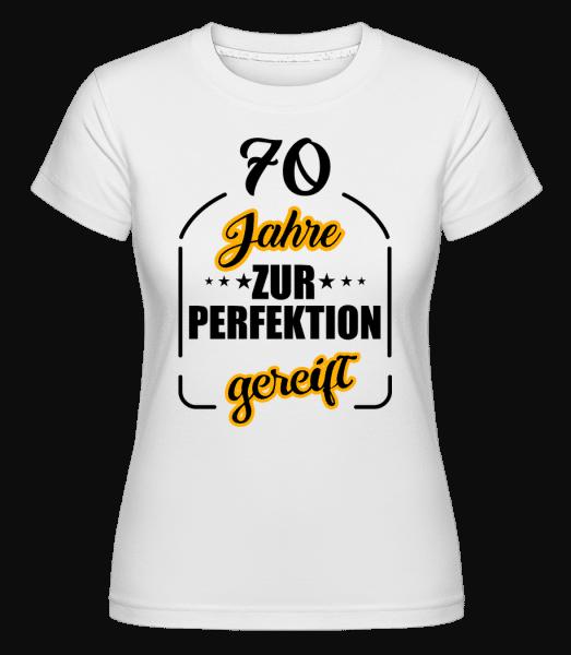 70 Jahre Gereift - Shirtinator Frauen T-Shirt - Weiß - Vorn