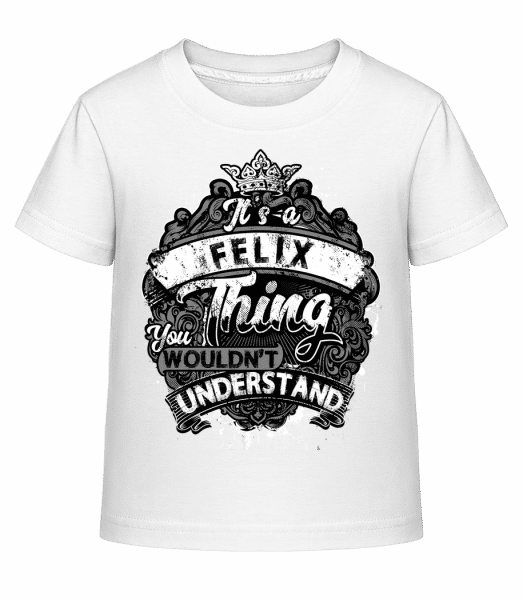 It's A Felix Thing - Kid's Shirtinator T-Shirt - White - Vorn