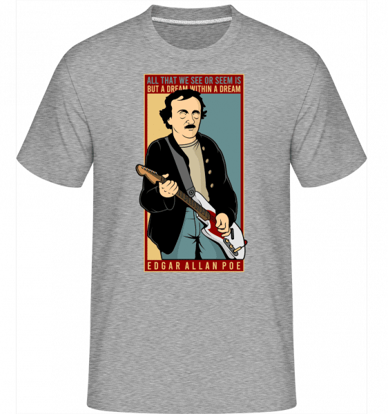 Edgar Allan Cobain -  Shirtinator Men's T-Shirt - Heather grey - Vorn