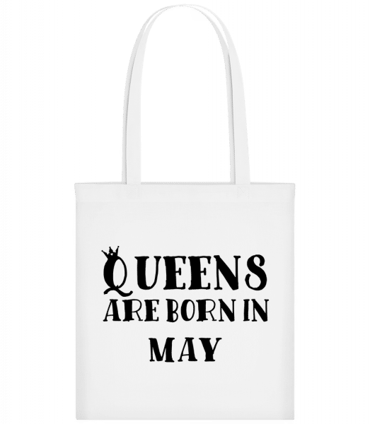 Queens Are Born In May - Carrier Bag - White - Vorn
