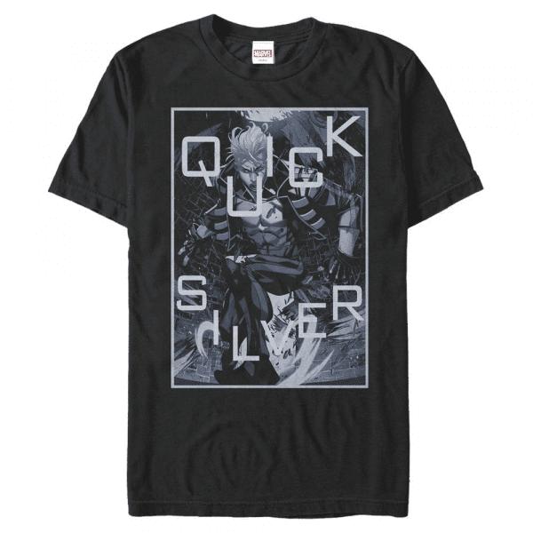 Silver Surf Quicksilver - Marvel X-Men - Men's T-Shirt - Black - Front