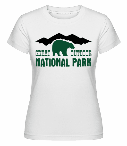 Great Outdoor National Park Icon -  Shirtinator Women's T-Shirt - White - Vorn