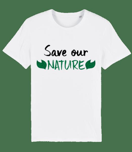 Save Our Nature - Pánske premium bio tričko Stanley Stella - Biela - Predné