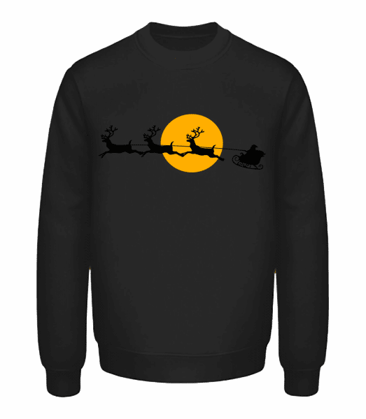 Noël Lune - Sweatshirt Unisexe - Noir - Vorn