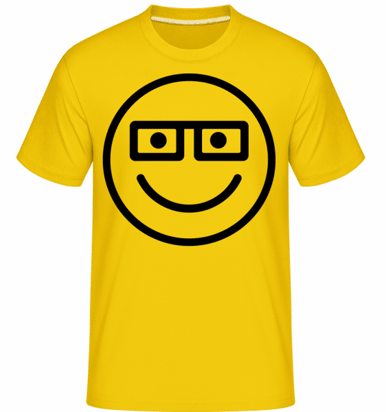 Smiley Emoticon -  Shirtinator Men's T-Shirt - Golden Yellow - Vorn