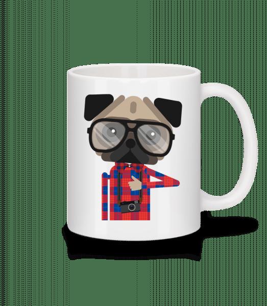 Nerdy Dog - Mug - White - Front