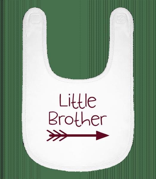 Little Brother - Baby Bib - White - Vorn