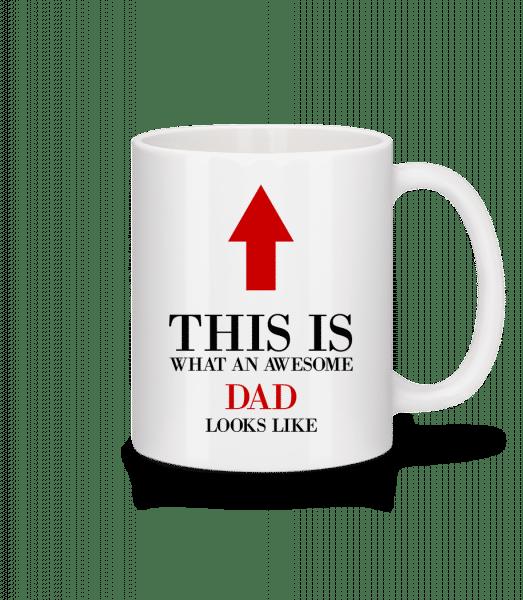 Awesome Dad - Mug - White - Vorn
