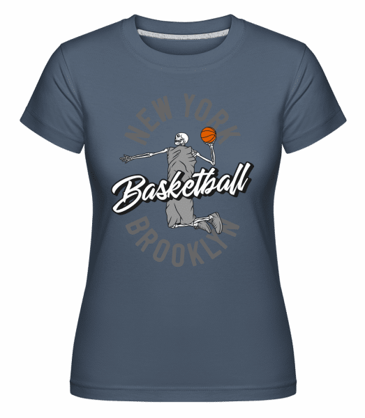 New York Basketball -  Shirtinator Women's T-Shirt - Denim - Vorn