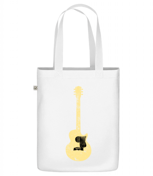 """Guitar See-Through - Organic """"Earth Positive"""" tote bag - White - Front"""
