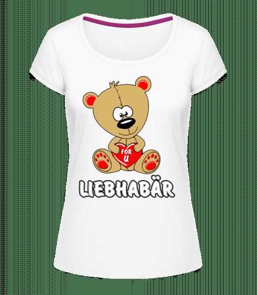 Liebhabär - Frauen T-Shirt U-Ausschnitt - Weiß - Vorn
