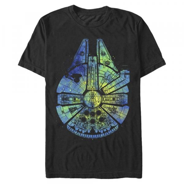 Touch the Sky Millennium Falcon - Star Wars - Men's T-Shirt - Black - Front