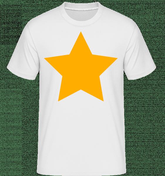 Star Icon Yellow -  Shirtinator tričko pro pány - Bílá - Napřed