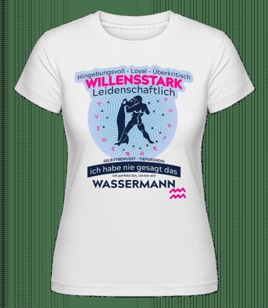 Sternzeichen Wassermann - Shirtinator Frauen T-Shirt - Weiß - Vorn