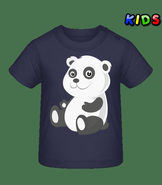 Panda Comic - Baby T-Shirt - Navy - Vorn