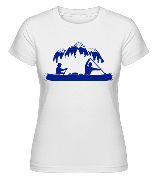 Canoe Tours Mountains -  Shirtinator Women's T-Shirt - White - Vorn