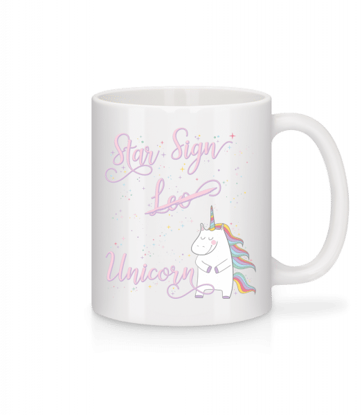 Star Sign Unicorn Leo - Mug - White - Front